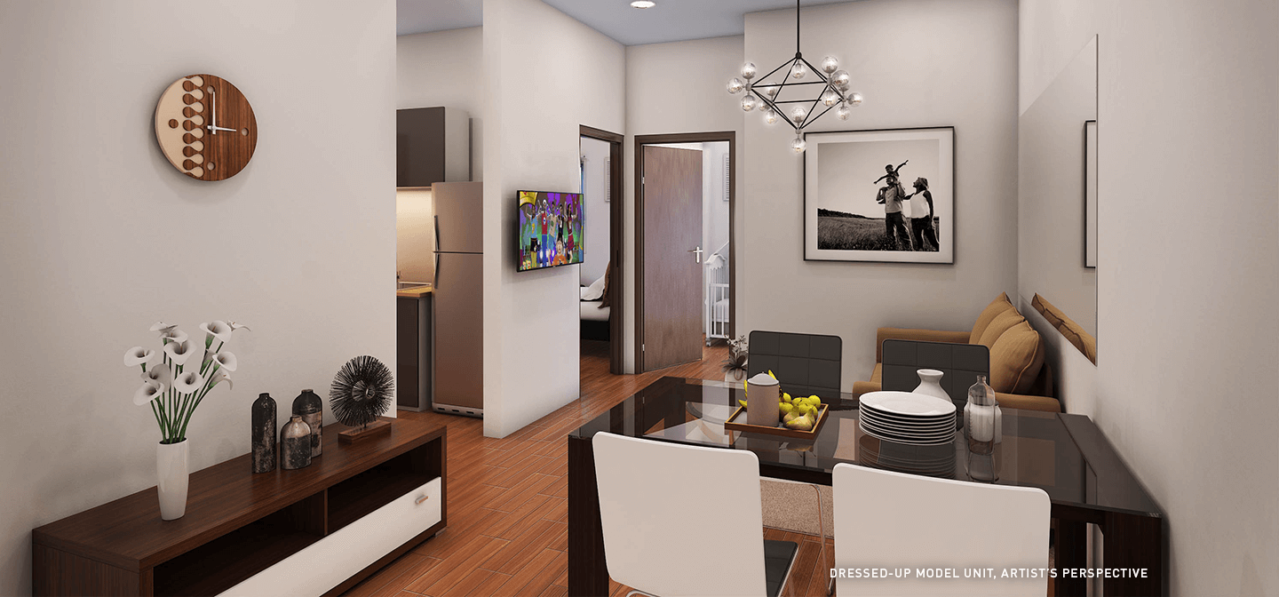 Dressed-up Dining and Living Area - Trees Residences